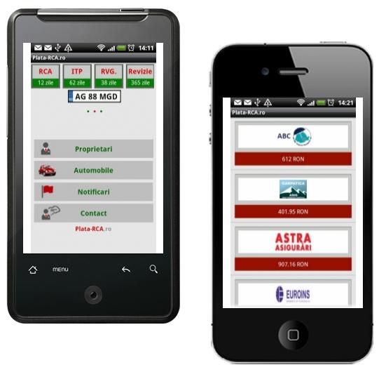 Aplicatie mobila plata-rca