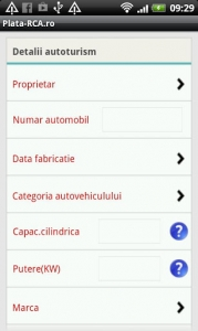 Aplicatie mobila plata-rca.ro screenshot1